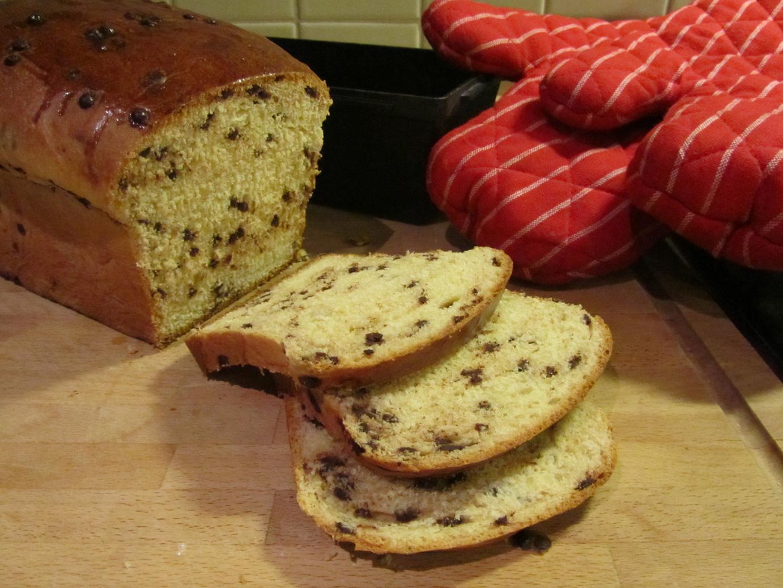 Brood met chocoladedruppels